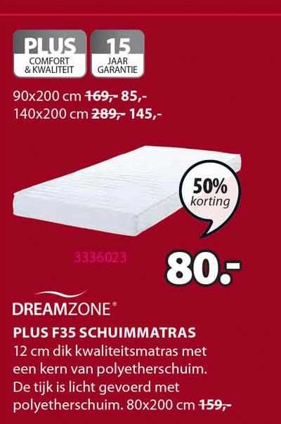 Jysk Dreamzone Plus F35 Schuimmatras 50% Korting