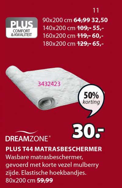 Jysk Dreamzone Plus T44 Matrasbeschermer 50% Korting