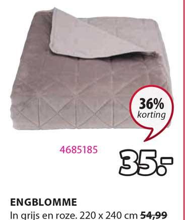 Jysk Engblomme Plaid 220 X 240 Cm 36% Korting