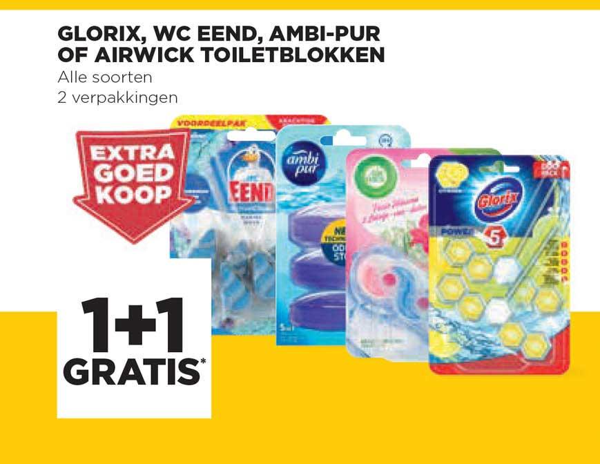 Jumbo Glorix, WC Eend, Ambi-Pur Of Airwick Toiletblokken 1+1 Gratis