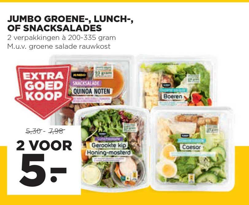 Jumbo Jumbo Groene-, Lunch-, Of Snacksalades