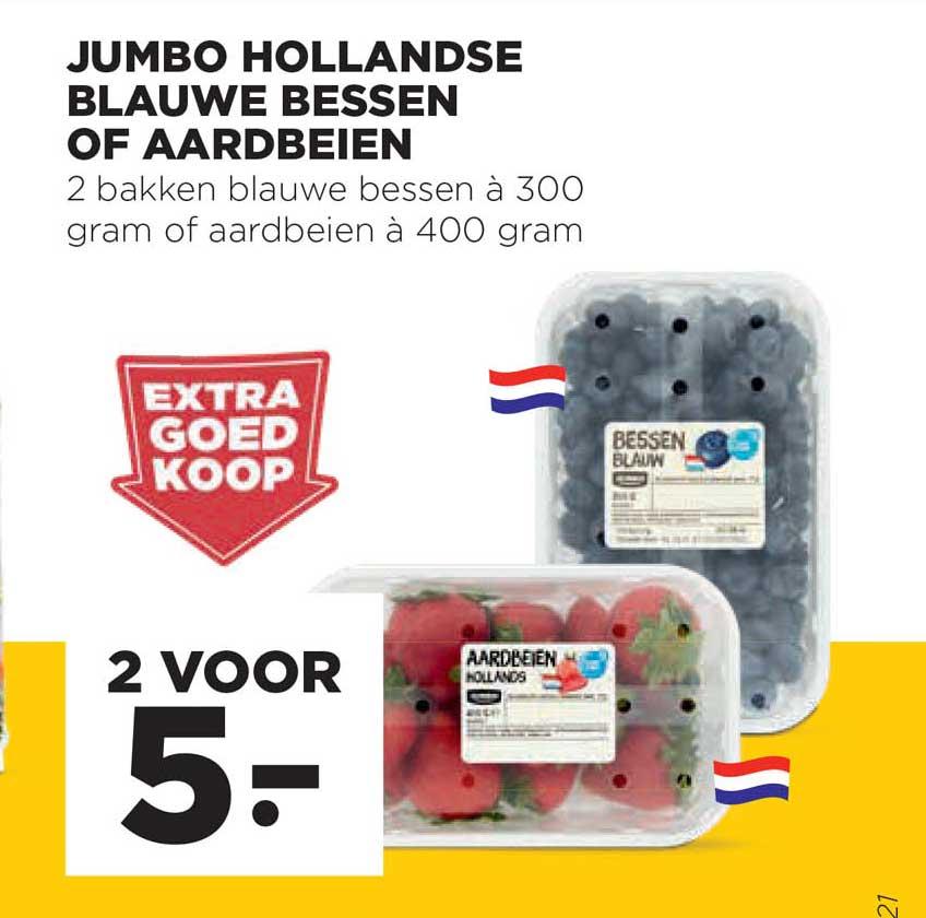 Jumbo Jumbo Hollandse Blauwe Bessen Of Aardbeien