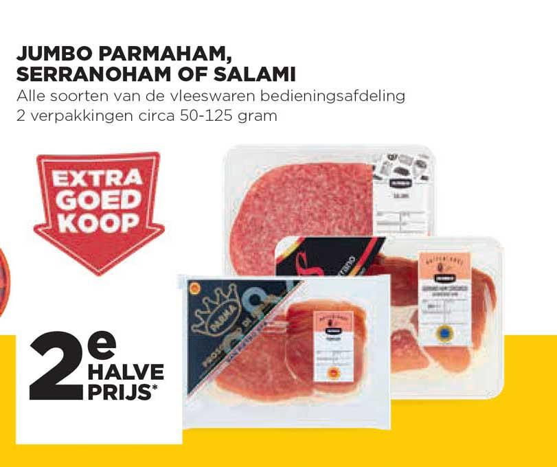 Jumbo Jumbo Parmaham, Serranoham Of Salami