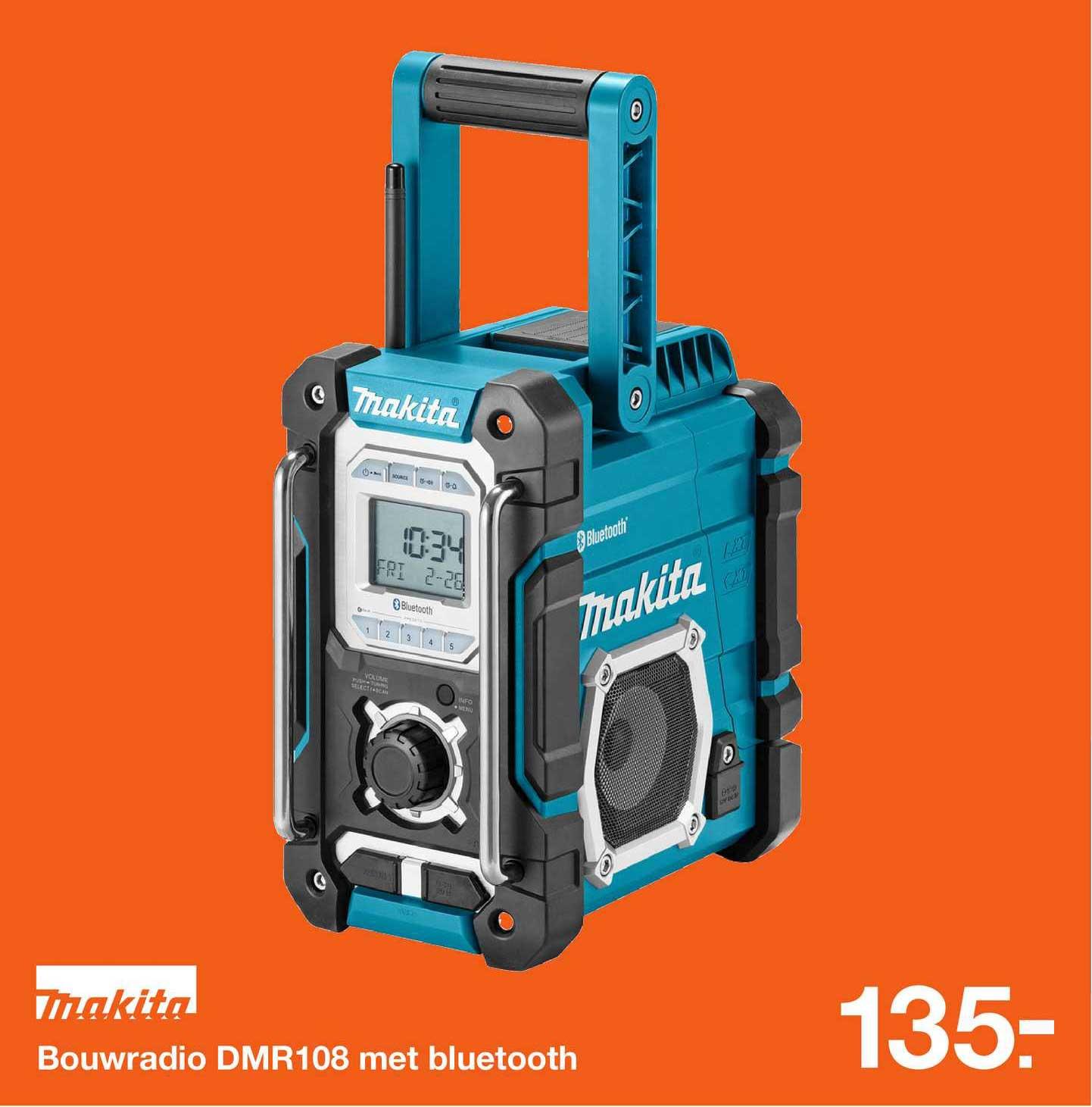 Bouwmaat Makita Bouwradio DMR108 Met Bluetooth