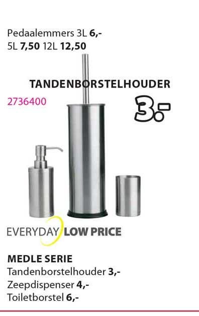Jysk Medle Serie : Tandenborstelhouder, Zeepdispenser Of Toiletborstel