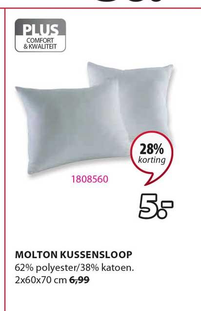 Jysk Molton Kussensloop 28% Korting