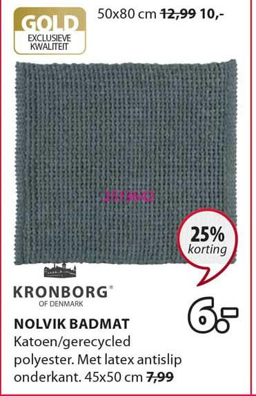 Jysk Nolvik Badmat 25% Korting
