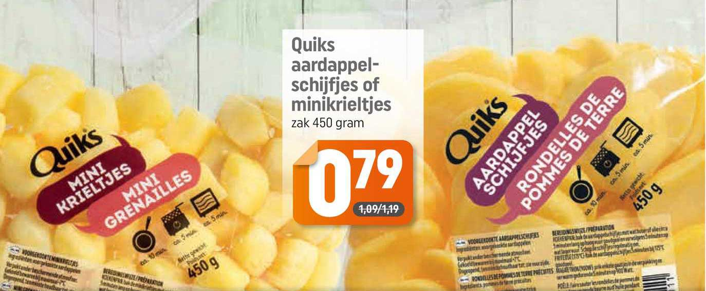 Dagwinkel Quiks Aardappelschijfjes Of Minikrieltjes