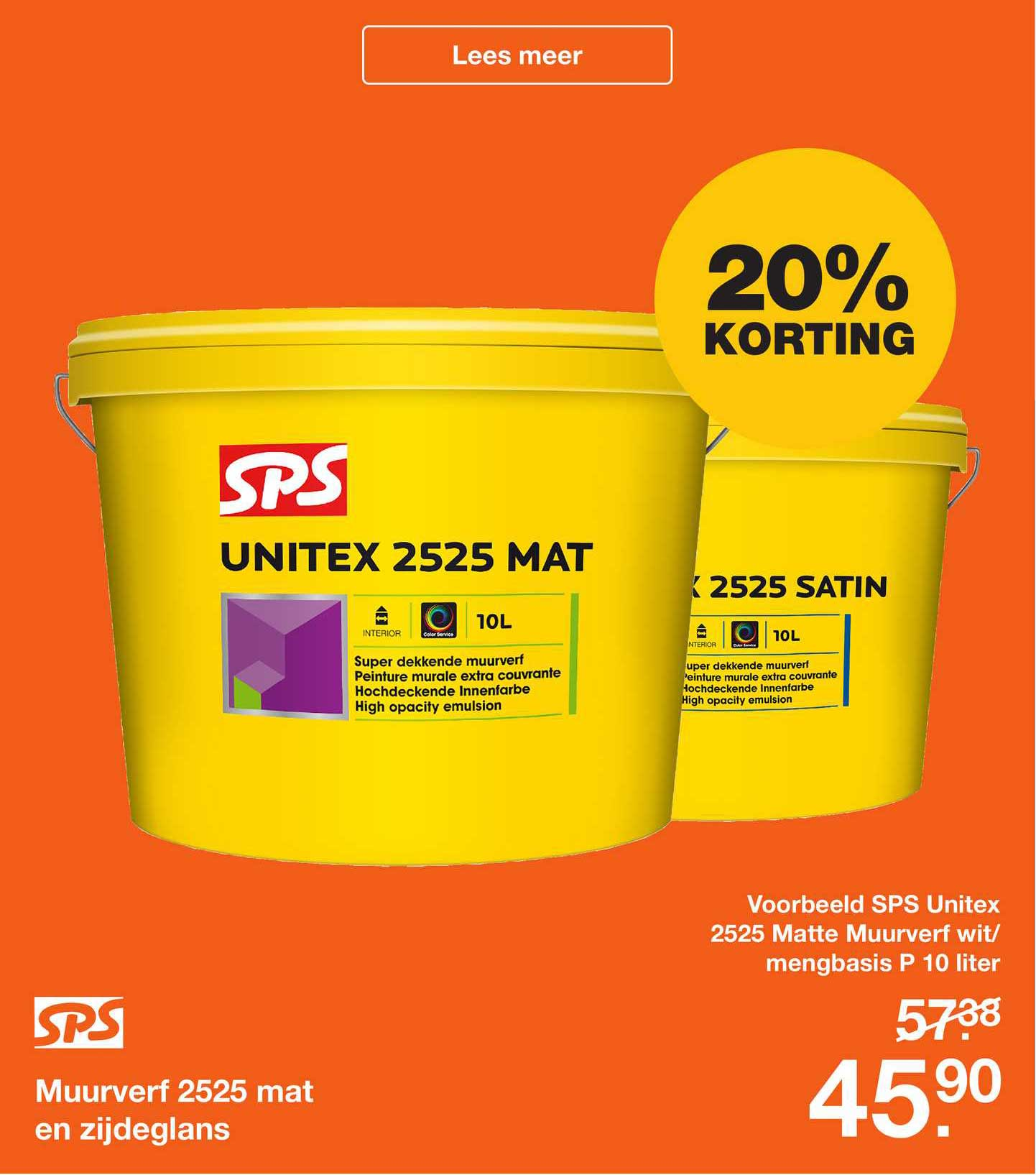 Bouwmaat SPS Muurverf 2525 Mat En Zijdeglans 20% Korting