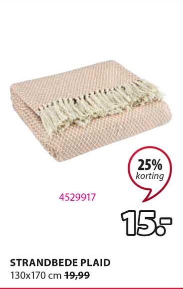 Jysk Strandbede Plaid 130x170 Cm 25% Korting