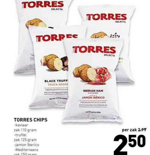 De Kweker Torres Chips Kaviaar, Truffel, Jamon Iberico Of Mediteriaans