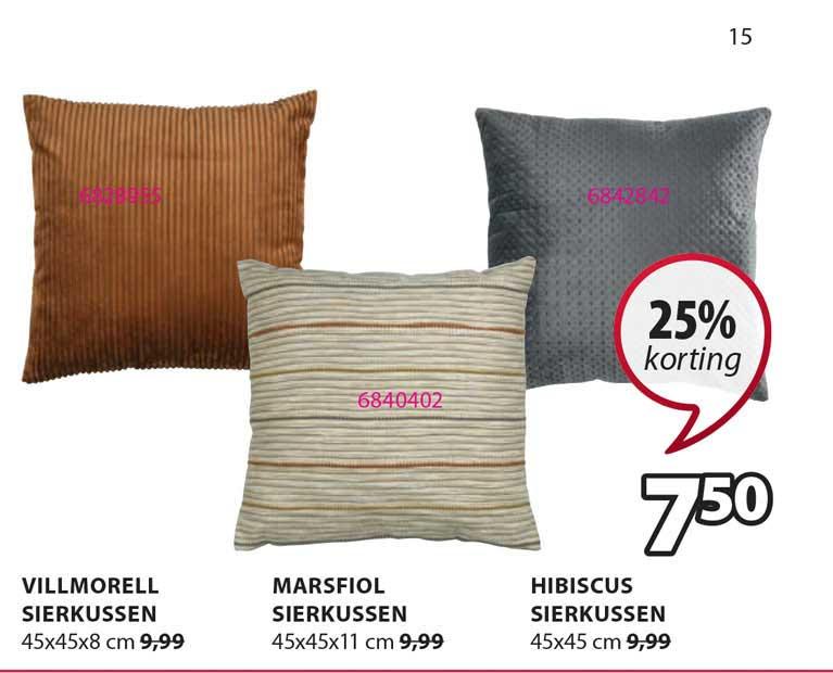 Jysk Villmorell Sierkussen, Marsfiol Sierkussen Of Hibiscus Sierkussen 25% Korting