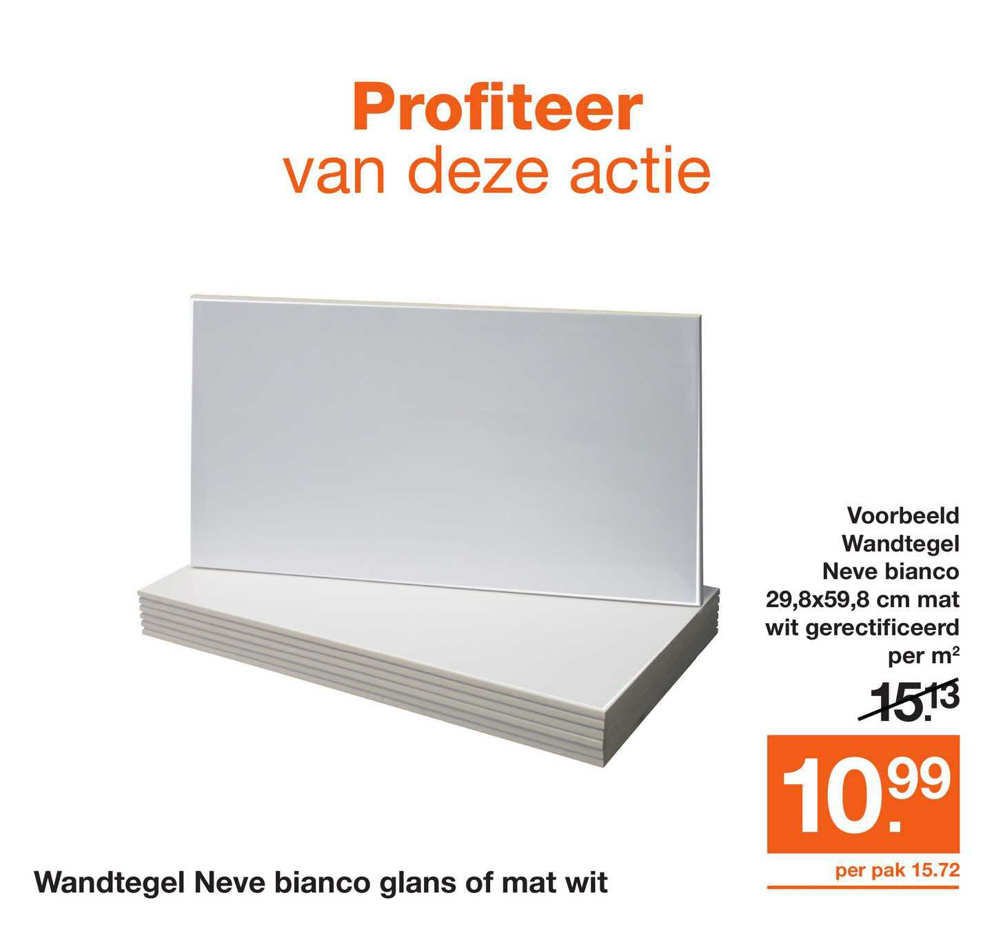 Bouwmaat Wandtegel Neve Bianco Glans Of Mat Wit