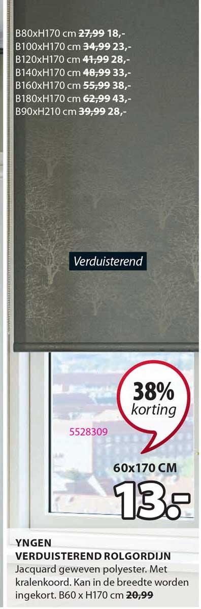 Jysk Yngen Verduisterend Rolgordijn 38% Korting