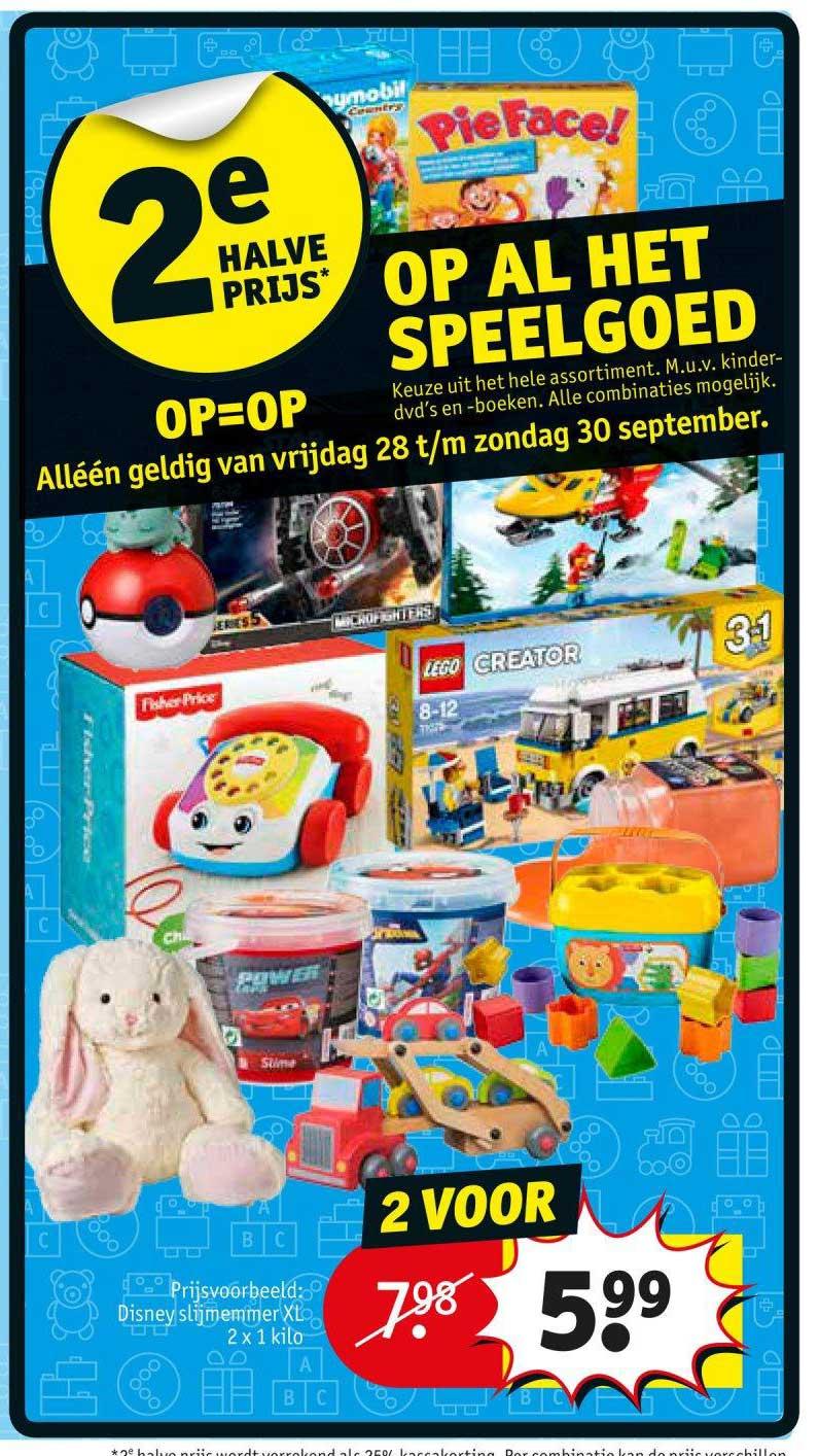 Alle speelgoed 2e halve prijs