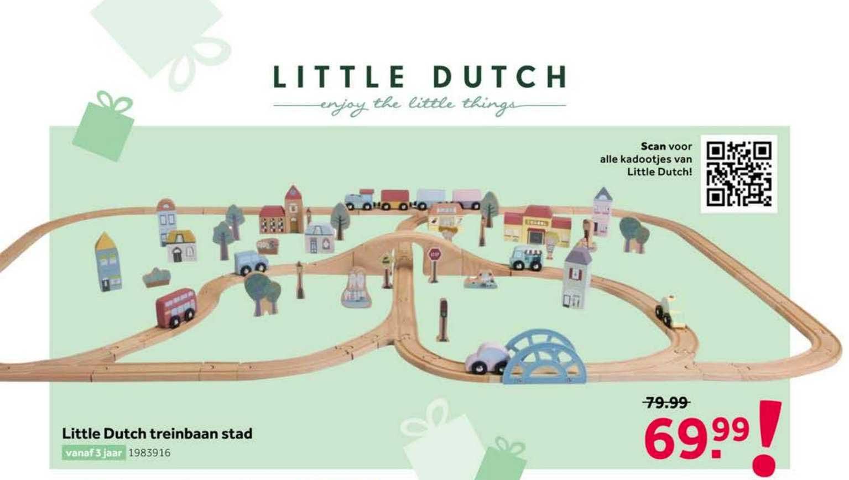 Intertoys Little Dutch Treinbaan Stad Speelgoed
