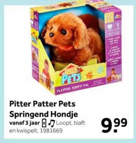 Intertoys Pitter Patter Pets Springend Hondje Speelgoed