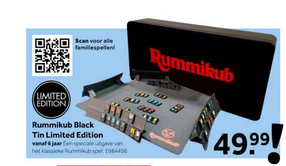 Intertoys Rummikub Black Tin Limited Edition