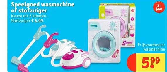 Kruidvat Speelgoed Wasmachine Of Stofzuiger