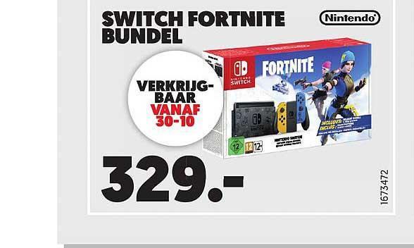 MediaMarkt Nintendo Switch Fortnite Bundel