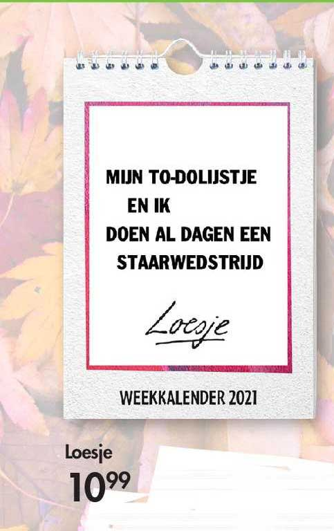 The Read Shop Loesje Weekkalender 2021