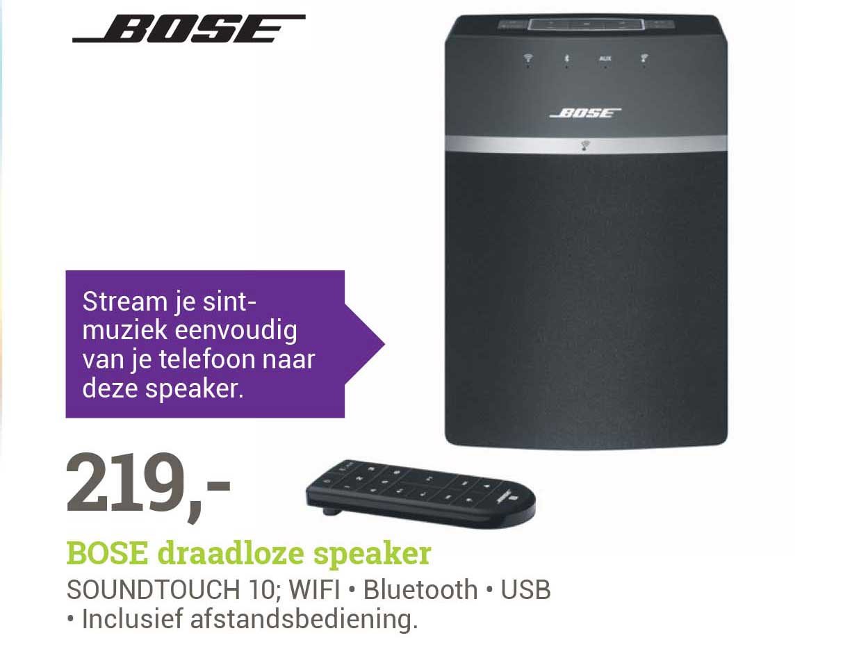 BCC Bose Soundtouch 10 Draadloze Speaker