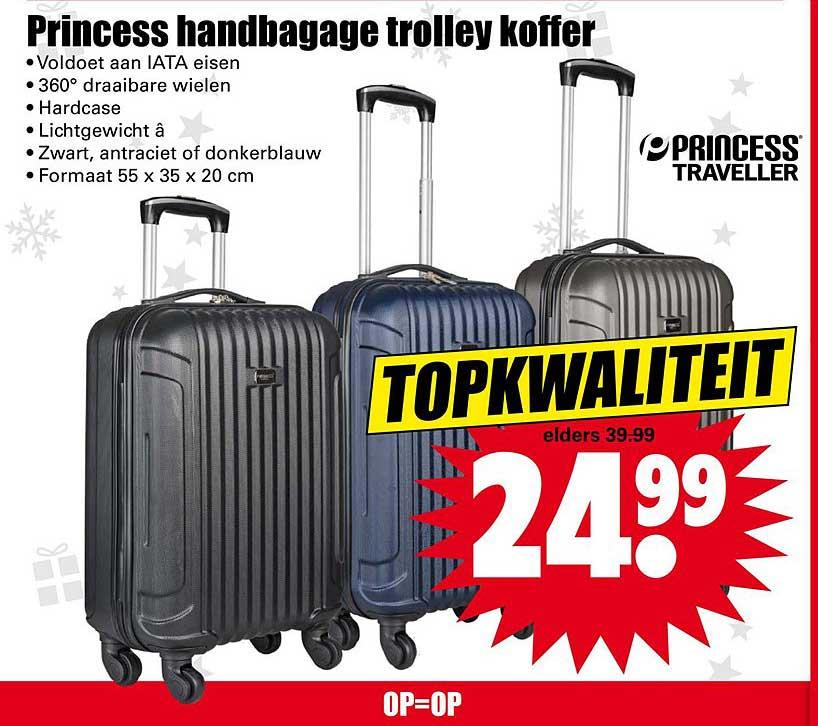 Dirk Princess Handbagage Trolley Koffer
