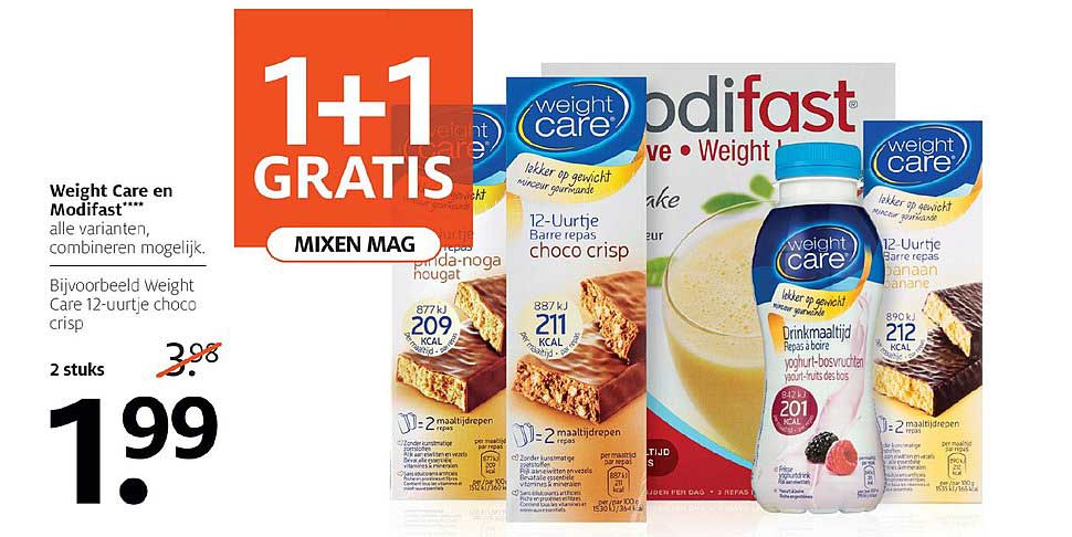 Etos Weight Care En Modifast: 1+1 Gratis