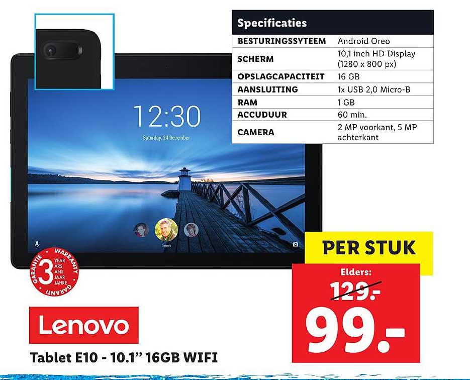 Lidl Shop Lenovo Tablet E10 10.1