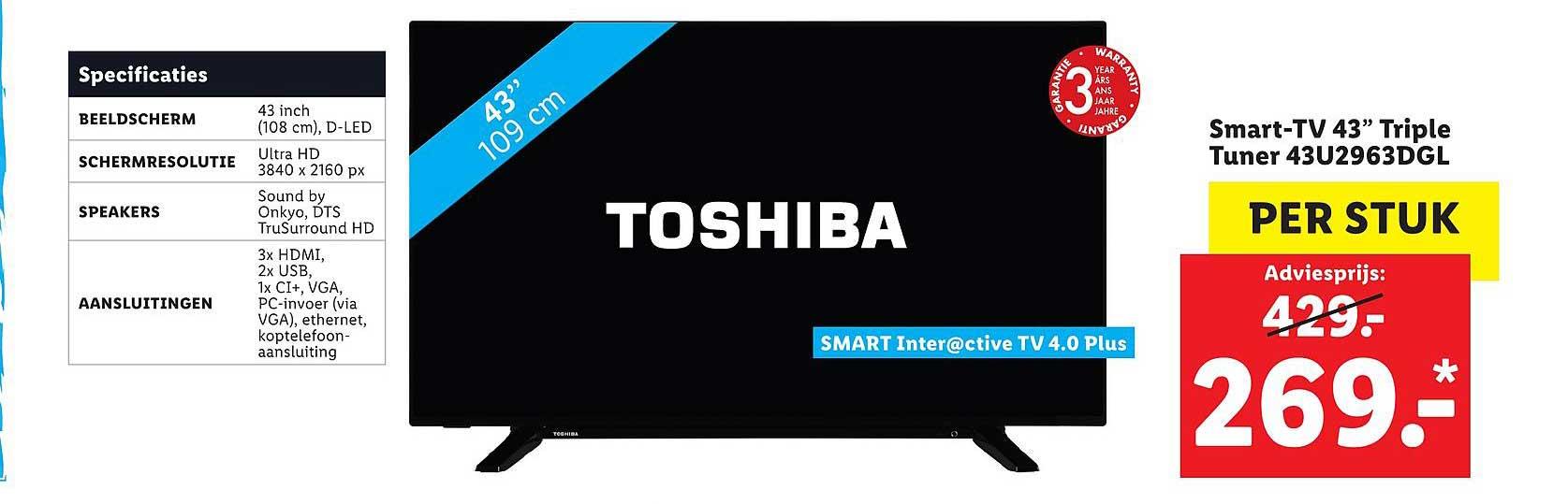 Lidl Shop Smart Tv 43