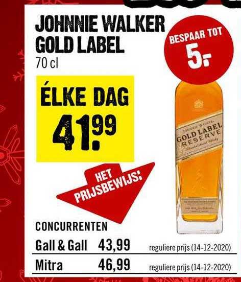 Dirck III Johnnie Walker Gold Label