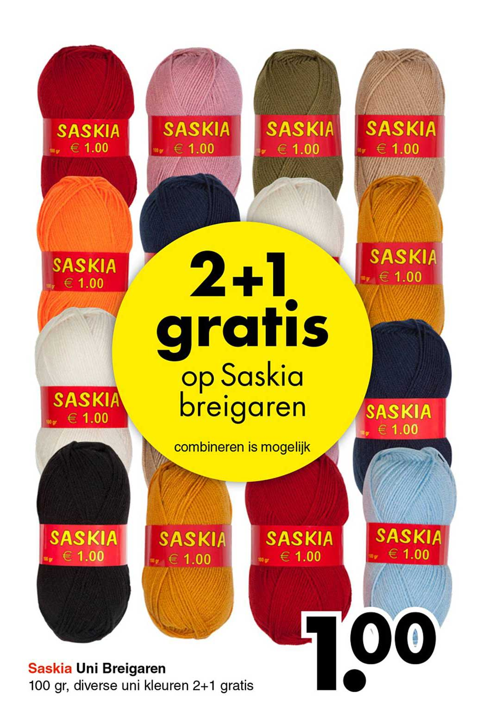 Wibra 2+1 Gratis Op Saskia Breigaren