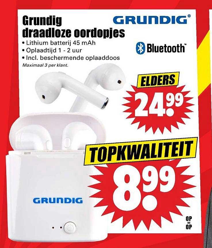 Dirk Grundig Draadloze Oordopjes