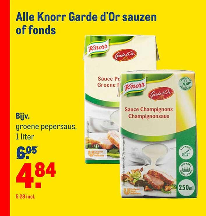 Makro Alle Knorr Garde D'Or Sauzen Of Fonds