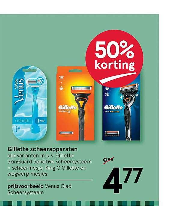 Etos Gillette Scheerapparaten 50% Korting