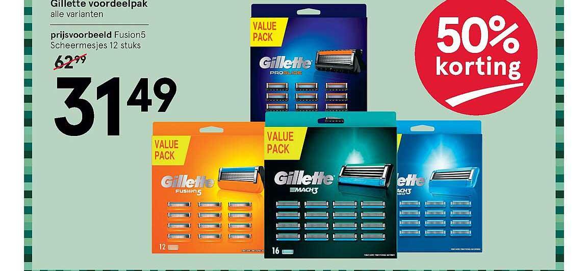 Etos Gillette Voordeelpak 50% Korting
