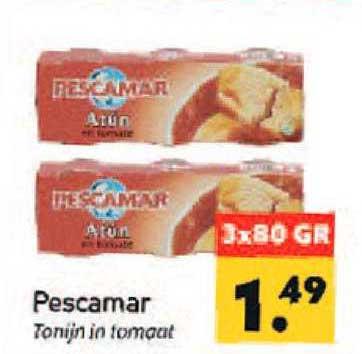 Tanger Markt Pescamar Tonijn In Tomaat