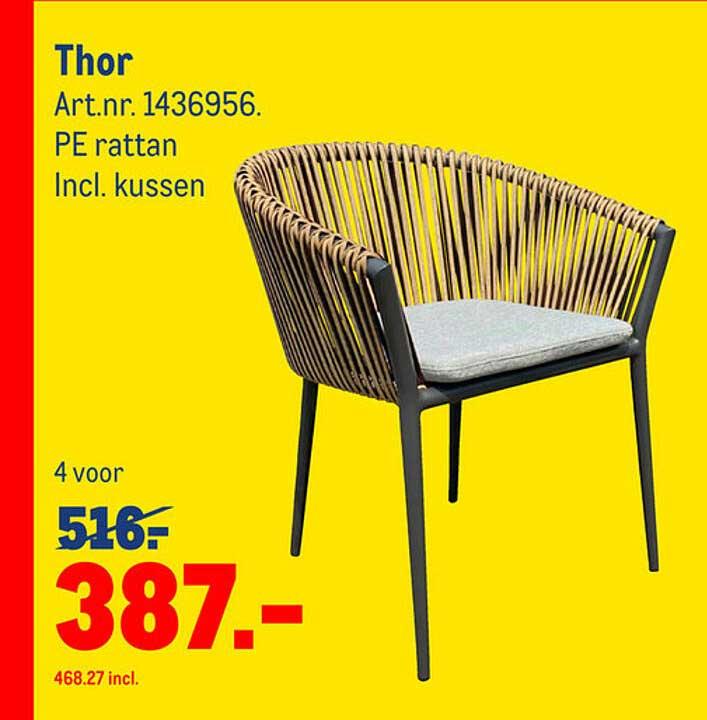 Makro Thor Tuinstoel