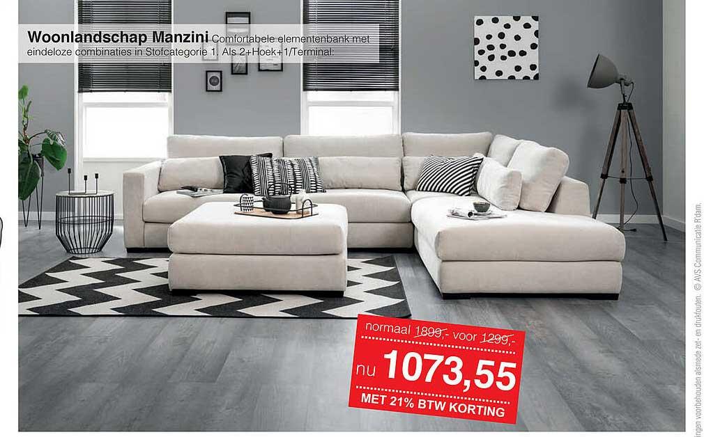 Woonsquare Woonlandschap Manzini Comfortabele Elementenbank