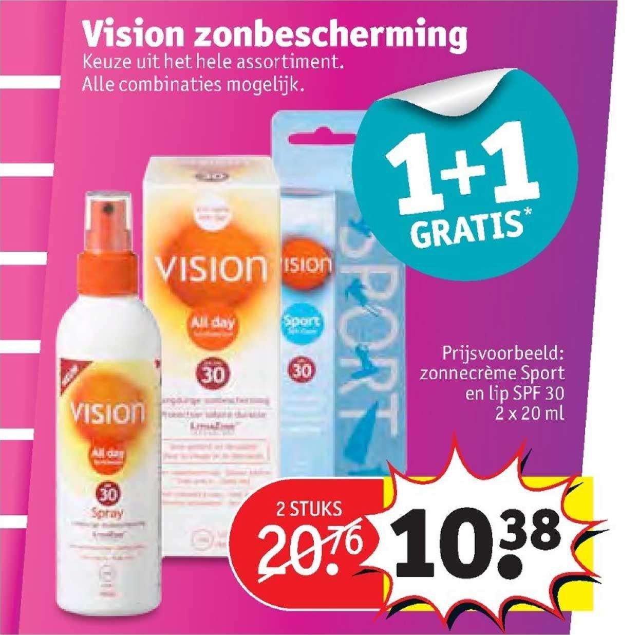 Kruidvat Vision Zonbescherming: 1+1 Gratis