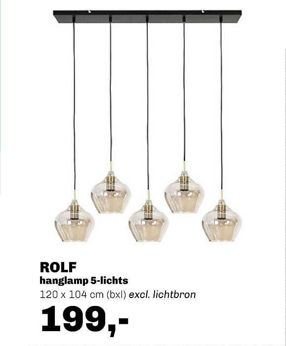 Trendhopper Rolf Hanglamp 5-lichts