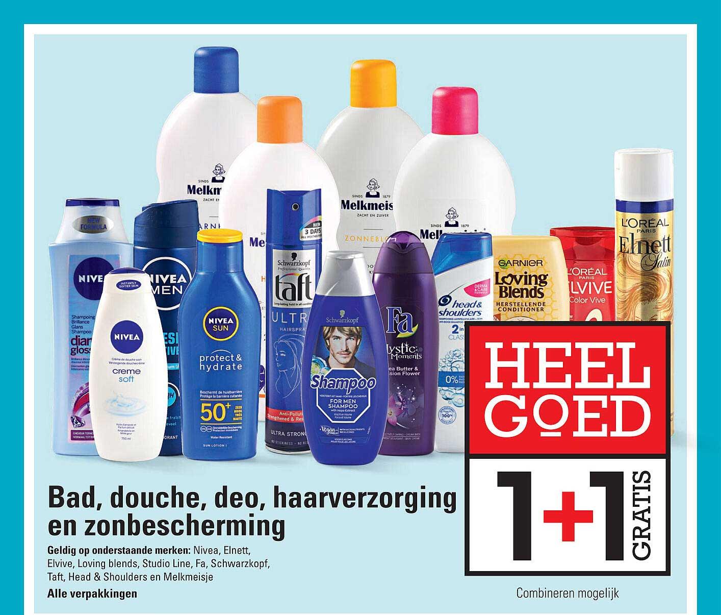 Sligro Bad, Douche, Deo Haarverzorging En ZOnbercherming 1+1 Gratis