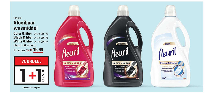 Sligro Fleuril Vloeibaar Wasmiddel Color & Fiber, Black & Fiber Of White & Fiber