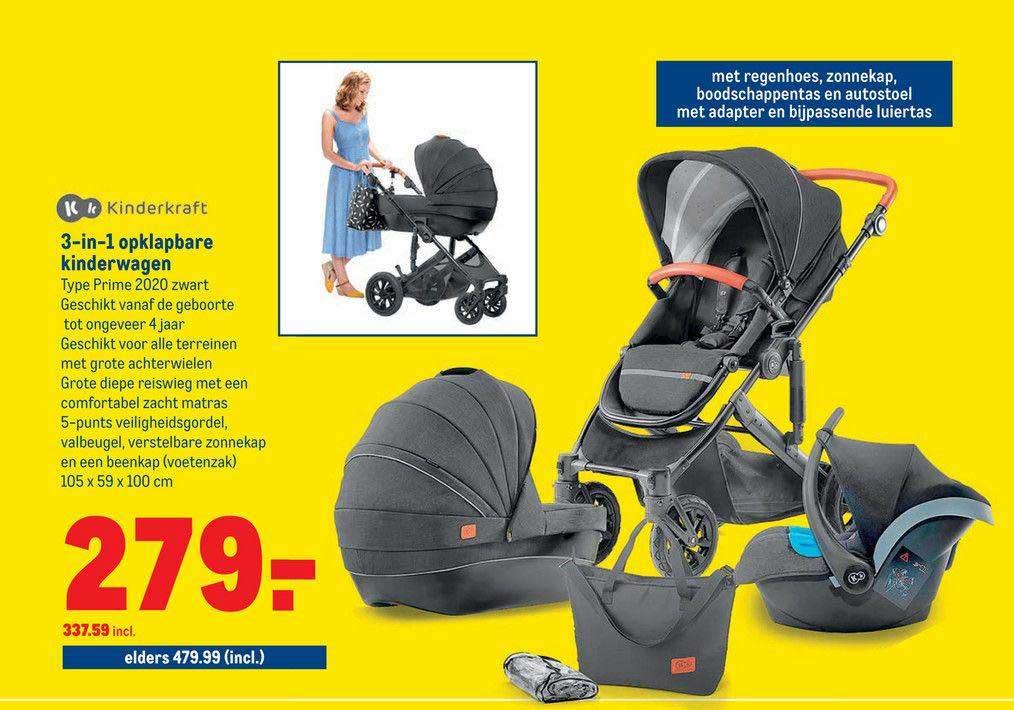 Makro Kinderkraft 3-in-1 Opklapbare Kinderwagen