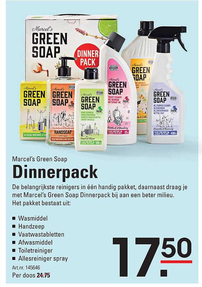 Sligro Marcel's Green Soap Dinnerpack