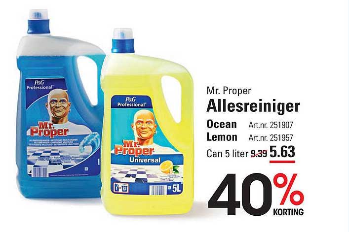 Sligro Mr. Proper Allesreiniger Ocean Of Lemon 40% Korting