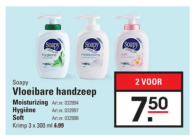 Sligro Soapy Vloeibare Handzeep : Moisturizing, Hygiëne Of Soft