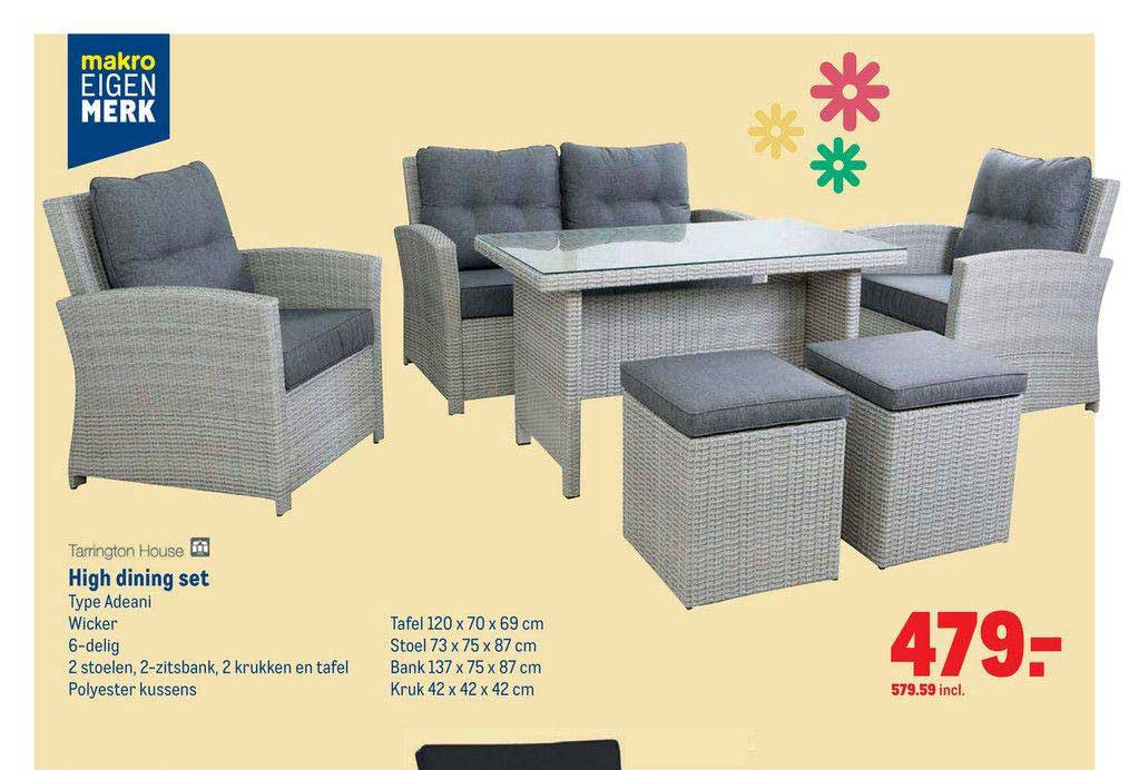 Makro Tarrington House High Dining Set Adeani