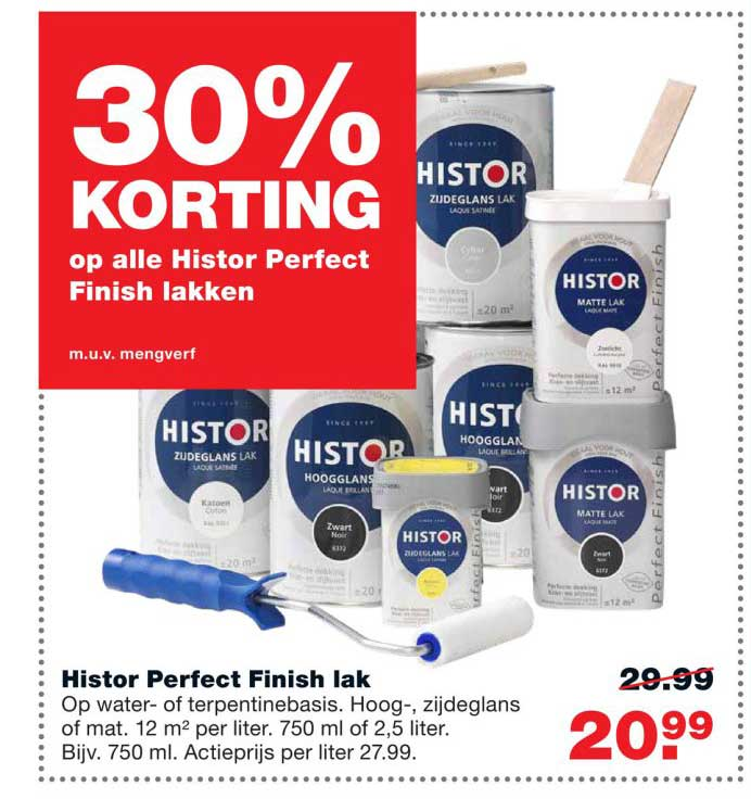Praxis 30% Korting Op Alle Histor Perfect Finish Lakken