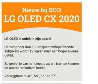 BCC LG OLED CX 2020